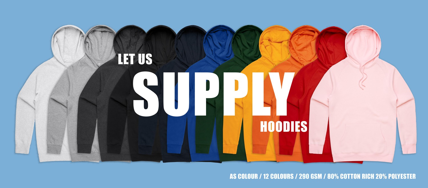 Let us supply your hoodie. AS Colours