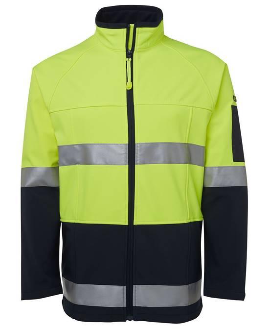 6D4LJ Hi Vis (D+N) Softshell Jacket