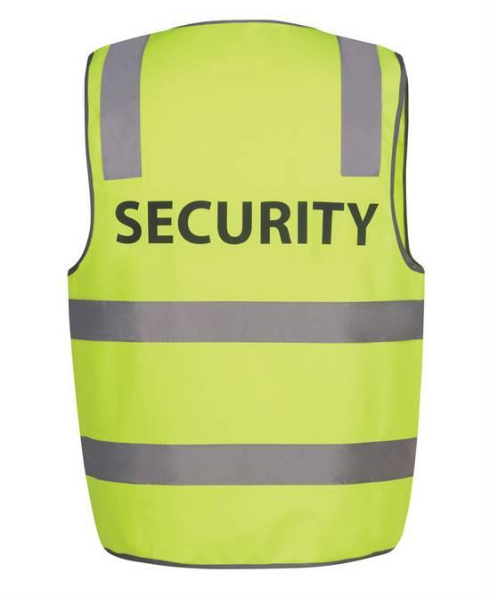 HI VIS D+N SAFETY VEST -  SECURITY/STAFF/VISITOR