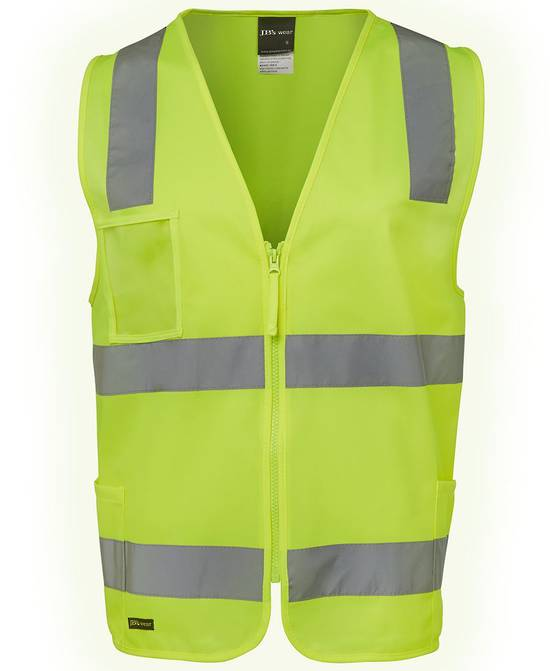 6DNSZ Hi Vis (D+N) Zip Safety Vest