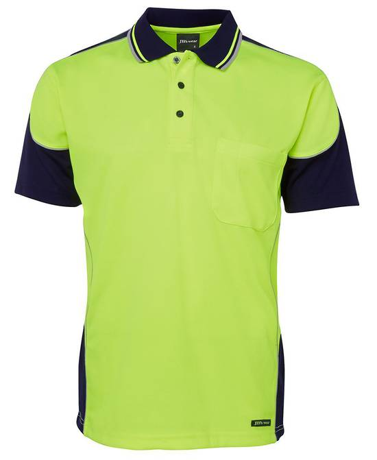6HCP4  Hi Vis Contrast Piping Polo