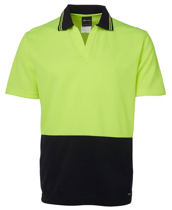 6HNB Hi Vis S/S Non Button Polo