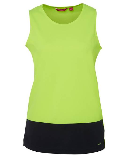 6HTS1  Ladies Hi Vis Traditional Singlet
