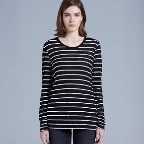 4027 FINE LONG SLEEVE STRIPE TEE