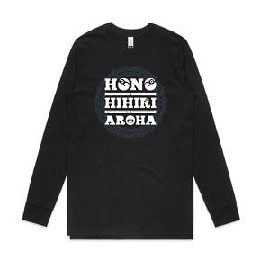 ARA HONO HIHIRI AROHA MEN'S ORGANIC L/S TEE