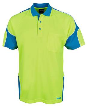 6AP4S Hi Vis S/S Arm Panel Polo