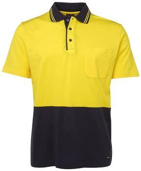 6CPHV Hi Vis S/S Cotton Polo