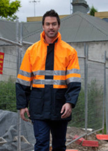 Hi Vis Day and Night LongLine Jacket with Printing