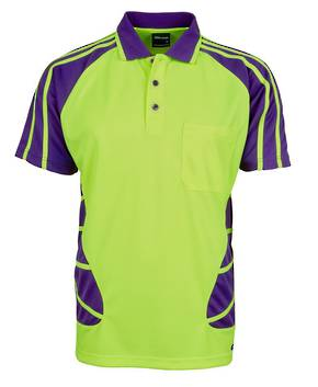 6HSP  Hi Vis S/S Spider Polo