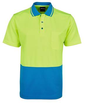 6HVNC Hi Vis Non Cuff Traditional Polo