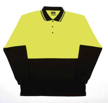 Hi Vis L/S Traditional Polo with Printing