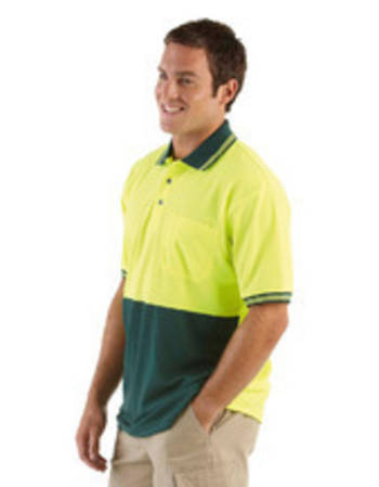 Hi Vis S/S Traditional Polo with Printing