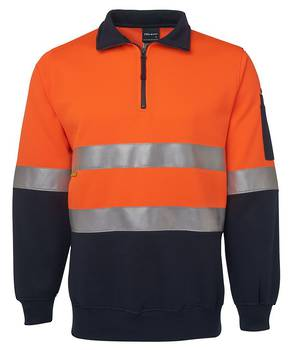 6HZFS Hi Vis 1/2 Zip (D+N) Fleecy Sweat