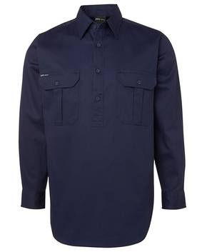 6WSCF  L/S 190G Close Front Work Shirt