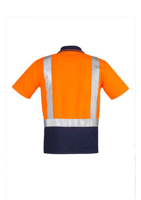 ZH233 Mens Hi Vis Spliced Polo - Short Sleeve