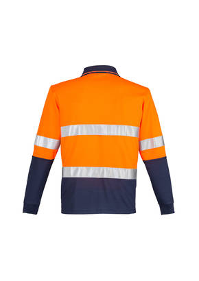 ZH235 Mens Hi Vis Spliced Polo - Long Sleeve Hoop Taped