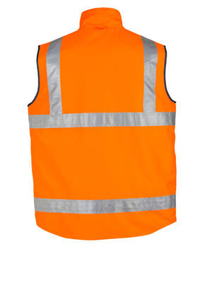 ZV358 Mens Hi Vis Lightweight Fleece Lined Vest
