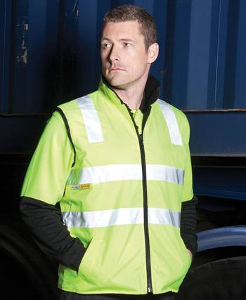 Hi Vis Day and Night Reversible Vest with Printing